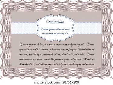 Retro invitation. Retro design. With quality background. Customizable, Easy to edit and change colors.
