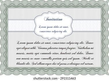 Retro invitation. With guilloche pattern. Border, frame.Good design.