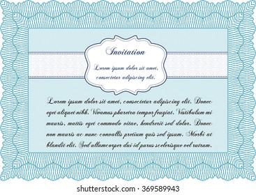 Retro invitation. Printer friendly. Detailed.Elegant design.