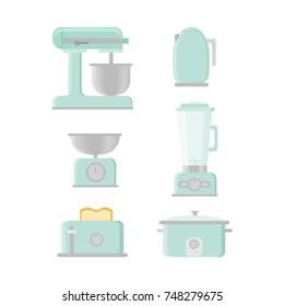 Retro Kitchen Appliances Vectors