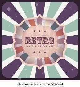 retro label over grunge background vector illustration