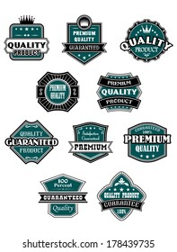 Retro labels set with western elements for logo retail industry