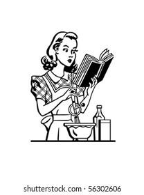 Retro Lady Cook - Clip Art