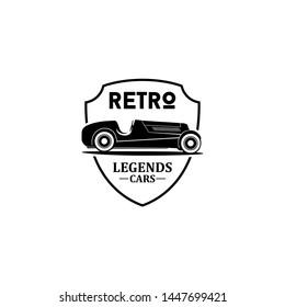 Retro legends car logo vector