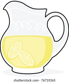 Retro Lemonade Pitcher