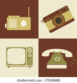 retro lifestyle over colors background vector illustration
