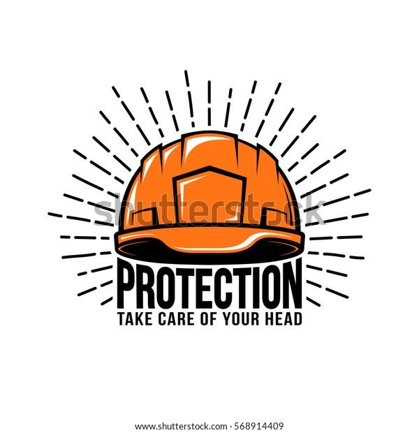Retro Logo Builder Helmet Sunburst Inscription Stock Vector (Royalty