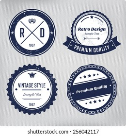 Retro logo elements set. Collection of vector vintage labels.