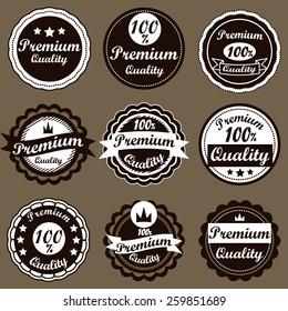 Retro logo template. Vintage Labels set.