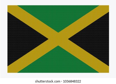 A retro looking Jamaica flag isolated on a white background