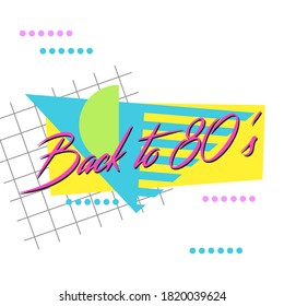 Retro Magenta 80's Logo Vector Graphic