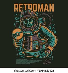 Retro Man Illustration