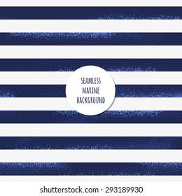 Retro marine background. Grunge striped vest seamless pattern