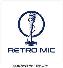 retro mic / exclusive logo design inspiration