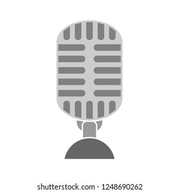 retro microphone icon - sound music illustration - voice record symbol