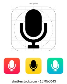 Retro microphone icon. Vector illustration.
