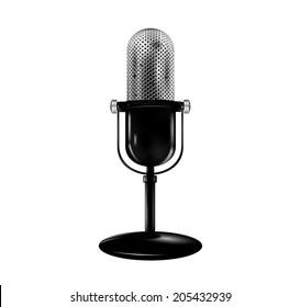 Retro microphone. Vector eps 10