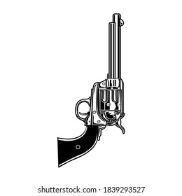 Retro monochrome tattoo gun. Vintage art isolated element on white background. Flat vector illustration. Tattoo studio and design elements concept