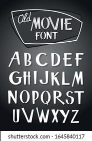 Retro Movie Font, einfarbige Filmtyp