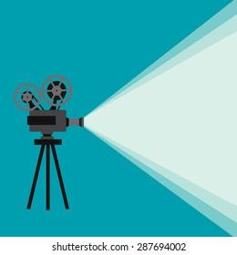 Movie Projector Images, Stock Photos & Vectors   Shutterstock