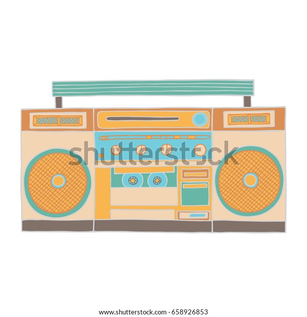 Retro Music Gadget 90s Old Musical Stock Vector (Royalty Free) 658926853