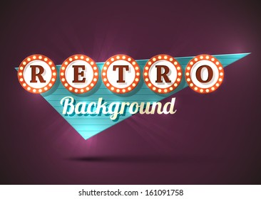 Retro old style road sign. EPS10 vector image.