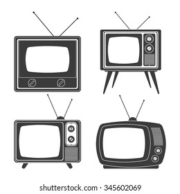 Retro and old Television concept design, vector illustration 10 eps graphic.