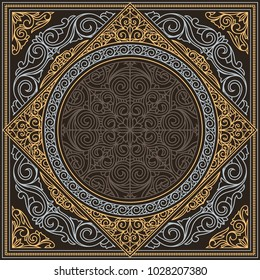 Retro ornate decorative design