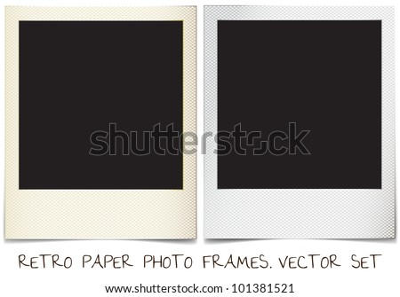 retro paper photo frames templates set stock vector royalty free