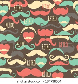 Retro pattern seamless texture