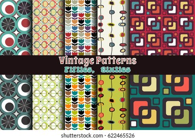 Retro Pattern Set Wallpapers from the Fifties, Sixties