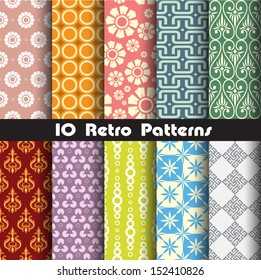 retro patterns collection set 1 for making seamless wallpapers