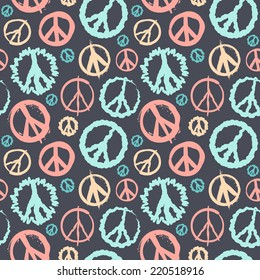 Retro Peace symbol seamless for your business