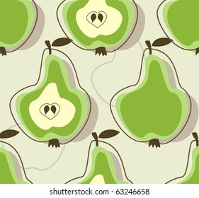 Retro pear background
