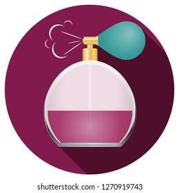 Retro perfume, realistic retro perfume. Vector illustration.