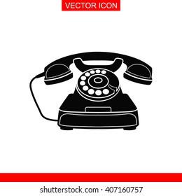 Retro phone Icon.
