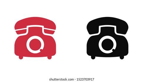 Retro phone icon. Vector web design