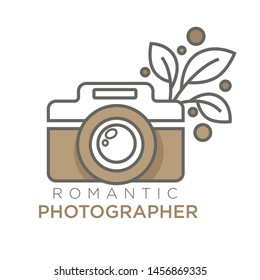 Retro photo camera photo studio isolated vector icon photographer mobile app for photoshooting premises snaps filters and effects tools, photography maker modern smartphone application emblem or logo