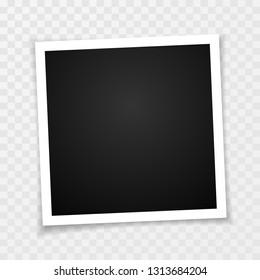 Retro photo frame with shadows. Vector illustration.