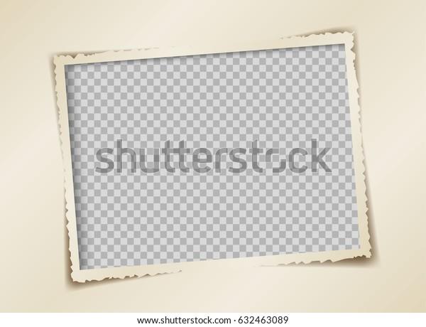 ретро фоторамка векторного дизайна, торн бумага представляет собой рамку для изображения, изолированную от прозрачности.