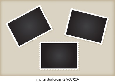 Retro photo frames.Abstract vector illustration.