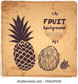 Retro pineapple illustration