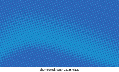 Retro pop art background blue dot haltone, vector illustation full hd