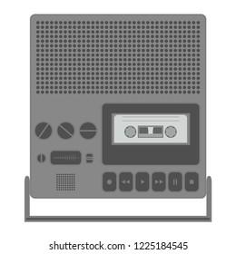 Retro portable stereo cassette recorder.