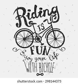 Retro poster biking as a lifestyle.
