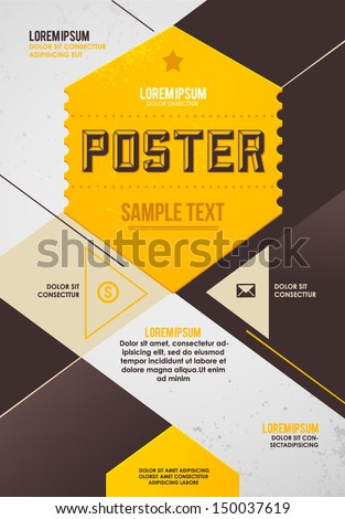 Retro Poster Template Stock Vector Royalty Free 150037619