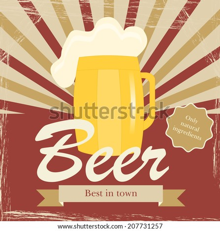 Retro poster template beer vintage label stock vector royalty free retro poster template for beer vintage label or banner design maxwellsz