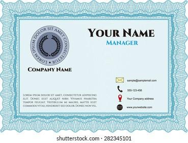 Retro Presentation Card  or business card