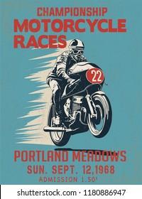 retro race poster illustration