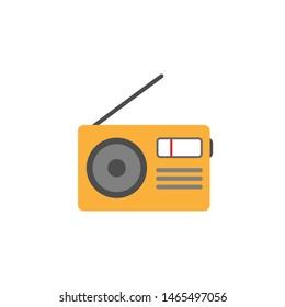 Retro radio icon flat style